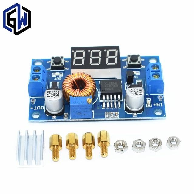 1 stücke XL4015 5A High power 75 Watt DC-DC einstellbare abwärtsmodul + LED Voltmeter stromversorgungsmodul