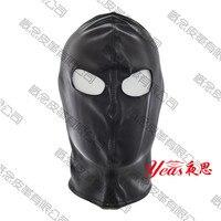 Adult Sexy Toys Fetish Open Mouth Mask Head Bondage Hood Black Sex Mask Seduction Headgear Flirt Sex Products For Couples
