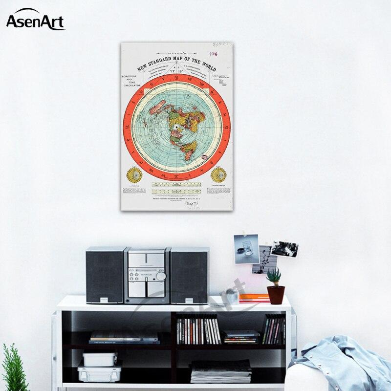 Mapa da terra plana gleason novo mapa