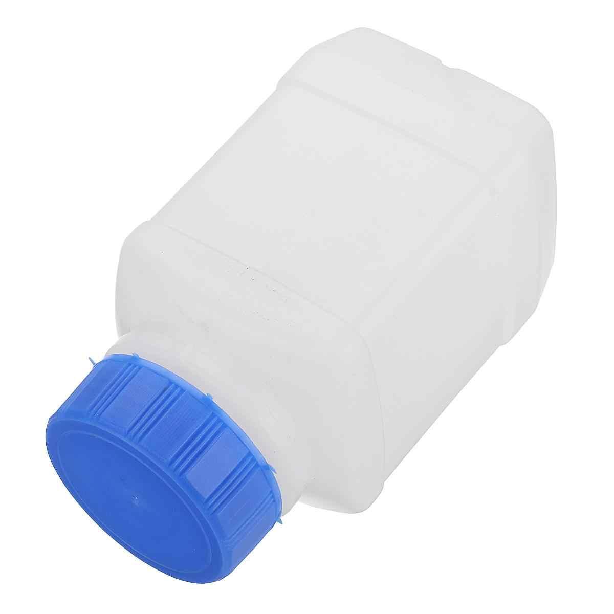 Z tworzywa sztucznego kwadratowe próbki uszczelnienie butelka z szerokim otworem butelki na odczynniki 50/100/250/500ml z niebieskim zakrętką eksperyment laboratoryjny
