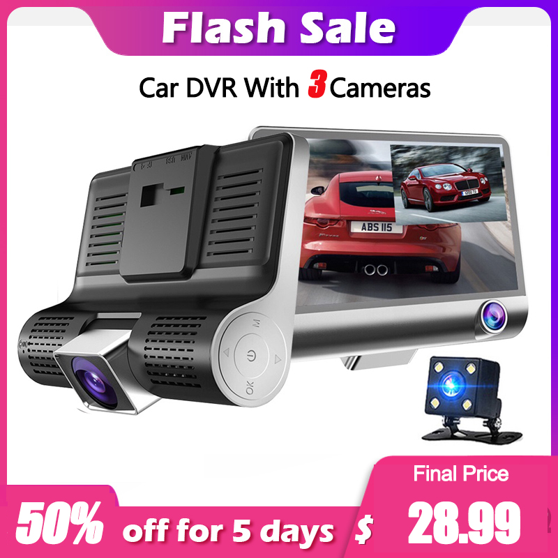 Super 3 Lens  Car DVR Car Rearview Mirror 170 Degree 1080P Full HD Full Video Registrator Recorder Camera Night Vision Dash CamSuper 3 Lens  Car DVR Car Rearview Mirror 170 Degree 1080P Full HD Full Video Registrator Recorder Camera Night Vision Dash Cam