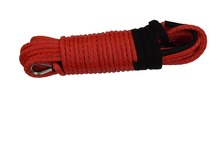 Red 10mm*30m 12 Plait Synthetic Rope,ATV Winch Line,Plasma Winch Cable,Kevlar Cable