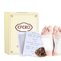 10pc /box Feet Foot Care Detox Patches Mat Detoxify Toxins Dispel Moisture Bamboo Vinegar Body Detox Foot Patch Slimming skin