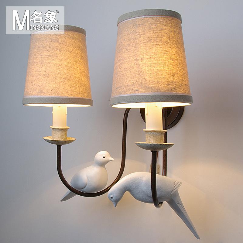 nordic European Retro simple personality Bird wall lamp living room bedroom Bedside Lamp Corridor