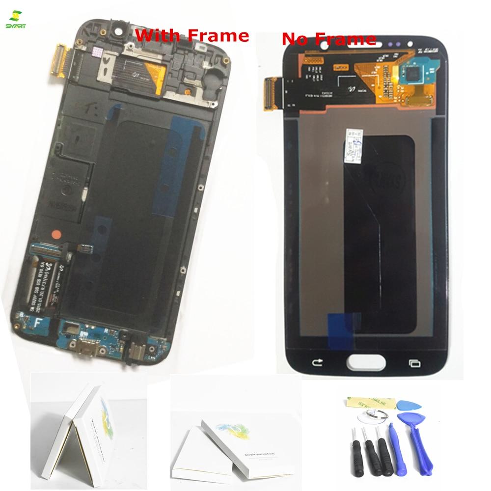 S6 G920 G920F Écran Tactile Pour S6 Samsung Galaxy S6 G920 G920F G920FD G920A G920I G920K Téléphone LCD Affichage Tactile Digitizer écrans lcd