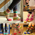 Unisex Stripe Cotton Socks Design Multi-Color Fashion Dress Men's Women's Socks