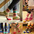 Unisex Stripe Cotton Socks Design Multi-Color Fashion Dress Men's Women's Socks