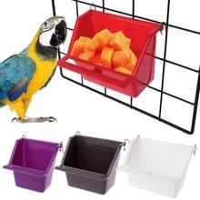 Новинка Высокое качество пластиковая кормушка для попугая, поилка для воды, устройство для питья птиц, голубей, чашка для кормления