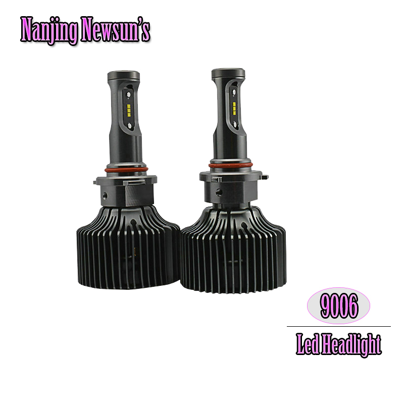 ФОТО Set 9006 HB4 P22d Auto Car Motorcycle Led Headlight Conversion Kits Single Beam Replace Original Halogen And HID Bulbs