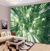 Photo Curtains Bamboo Green Curtains For Bedroom Shade Kitchen Textile Window Curtains Living Room Home Decorative