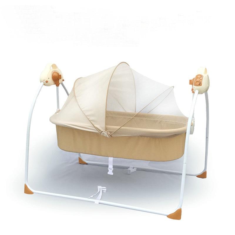 Berceau électrique lit bébé à bascule lit nouveau-né dormir Intelligent automatique couché lit bébé
