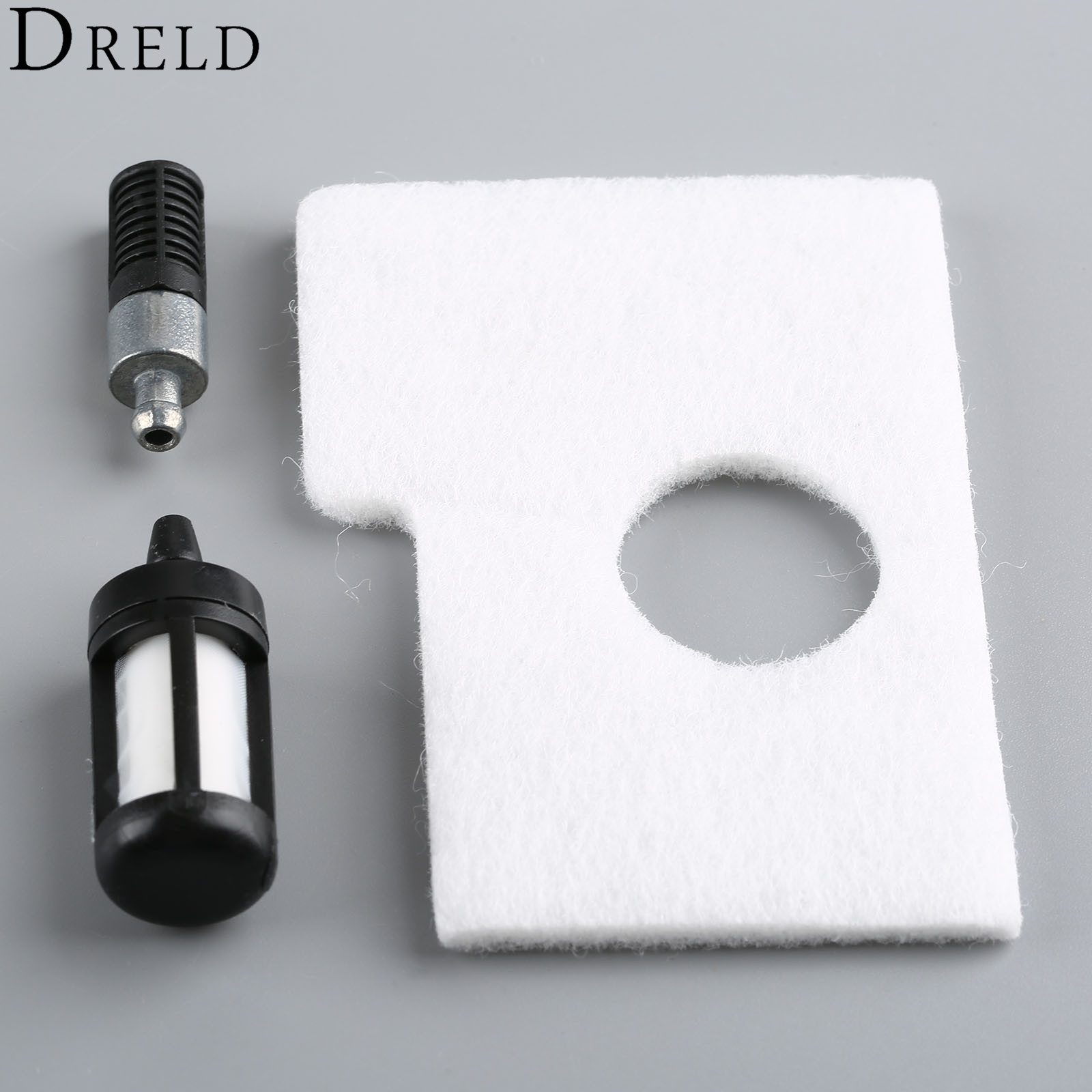 DRELD 3Pcs/set Replacement Air Fuel Oil Filter Cleaner For STIHL Chainsaw 017 018 MS170 MS180 # 1130 358 7700 Garden Tools
