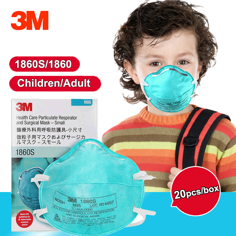3m Respirator Dust Adult Anti-virus Care N95 Breathing Dustproof Particulate Health Masks Children Safety 1860s For 1860 Mask