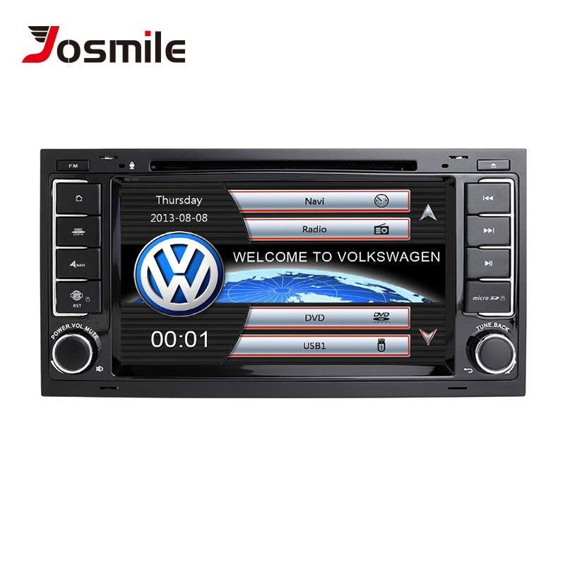 Josmile 2 din Автомобильный мультимедийный плеер для VW Volkswagen Touareg T4 Transporter T5 gps навигация Авторадио 2004 2005 2006 20082011