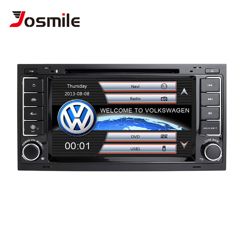 Josourire 2 din lecteur multimédia de voiture pour VW Volkswagen Touareg T4 Transporter T5 GPS Navigation AutoRadio 2004 2005 2006 20082011