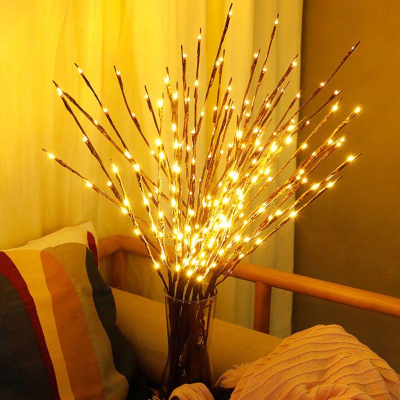 Warme LED Willow Zweig Lampe Floral Lichter 20 Birnen Startseite Weihnachten Garten Party Dekoration Lichter