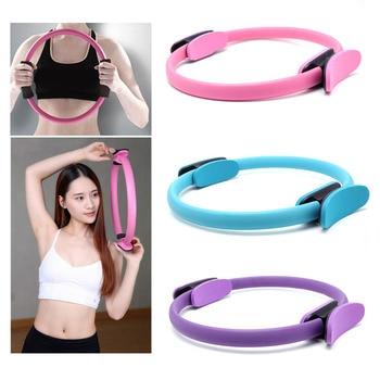Dual Grip Pilates Circle Yoga Wheel Gymnastic Circle Ring Gym Workout Back Training Tool Home Slimming Fitness Equipment
