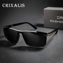 CRIXALIS Brand Design Fashion Polarized Sun glasses Male Square Mirror Lens Sunglasses