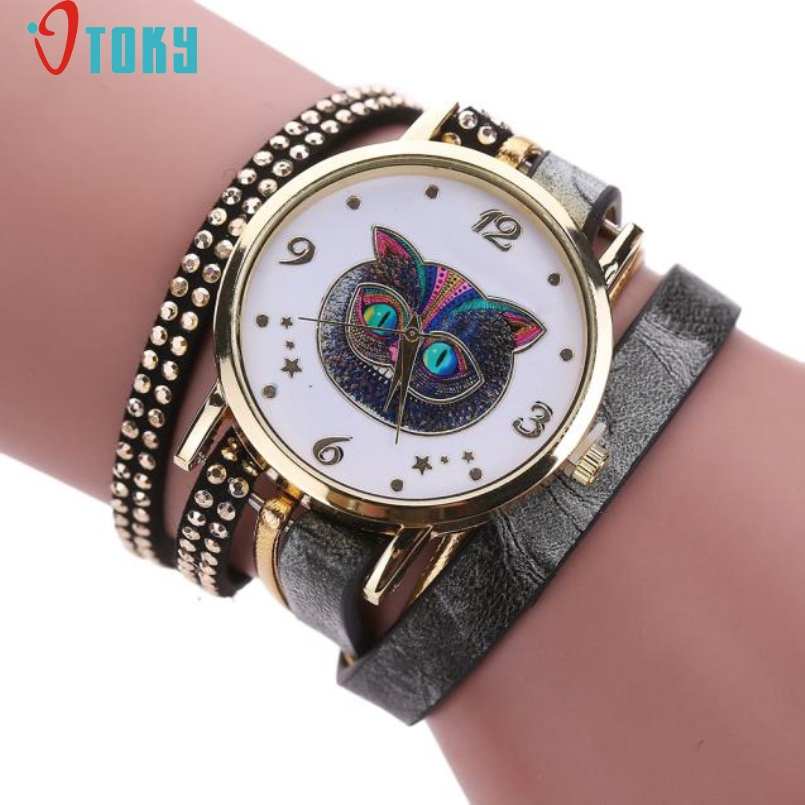 Excellent Quality OTOKY New Quartz Watches Women Personality Leather Bracelet Watch Fashion Casual Clock Relogio Feminino Jan-9