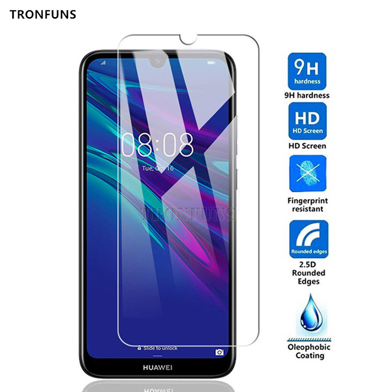 9H Tempered Glass For Huawei Y5 Y6 Y7 Prime Pro Y9 2019 Glass Screen Protector On For Honor 8A 8S 10 Lite 10i Protective Film