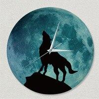 2017 Creative Wall Clock Luminescent Lunar Luminous Waterproof Wall Clock Acrylic Silence Clock Wall Stickers Clock