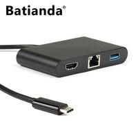 USB CถึงHDMI + USB 3.0ประเภท+ Gigabit Ethernet + USB Type CพลังงานD Eliveryชาร์จพอร์ตHubอะแดปเตอร์-USB-C