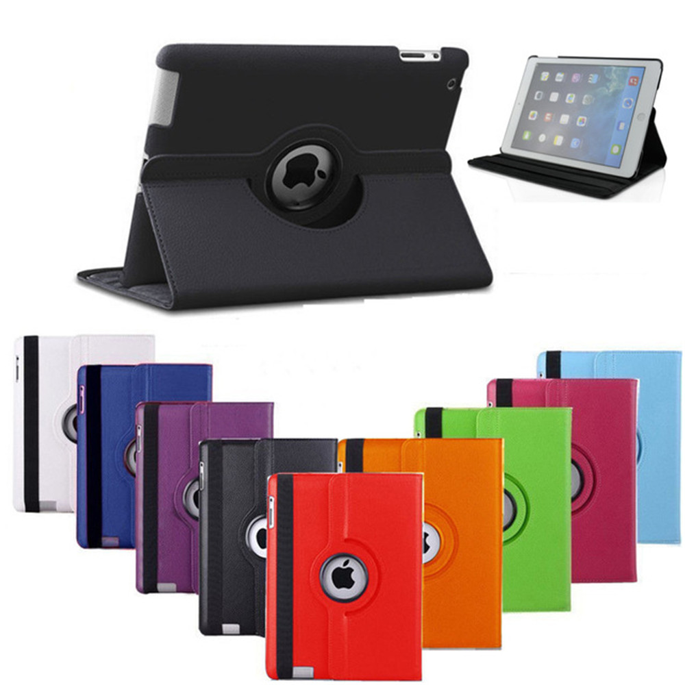 Soft Silicone TPU Case For iPad 234 Leather Rotating Cover For iPad 4 3 2 Tablet Protective Case 9.7 Inch High Quality universal anti shock protective silicone back case for ipad 2 3 4 black