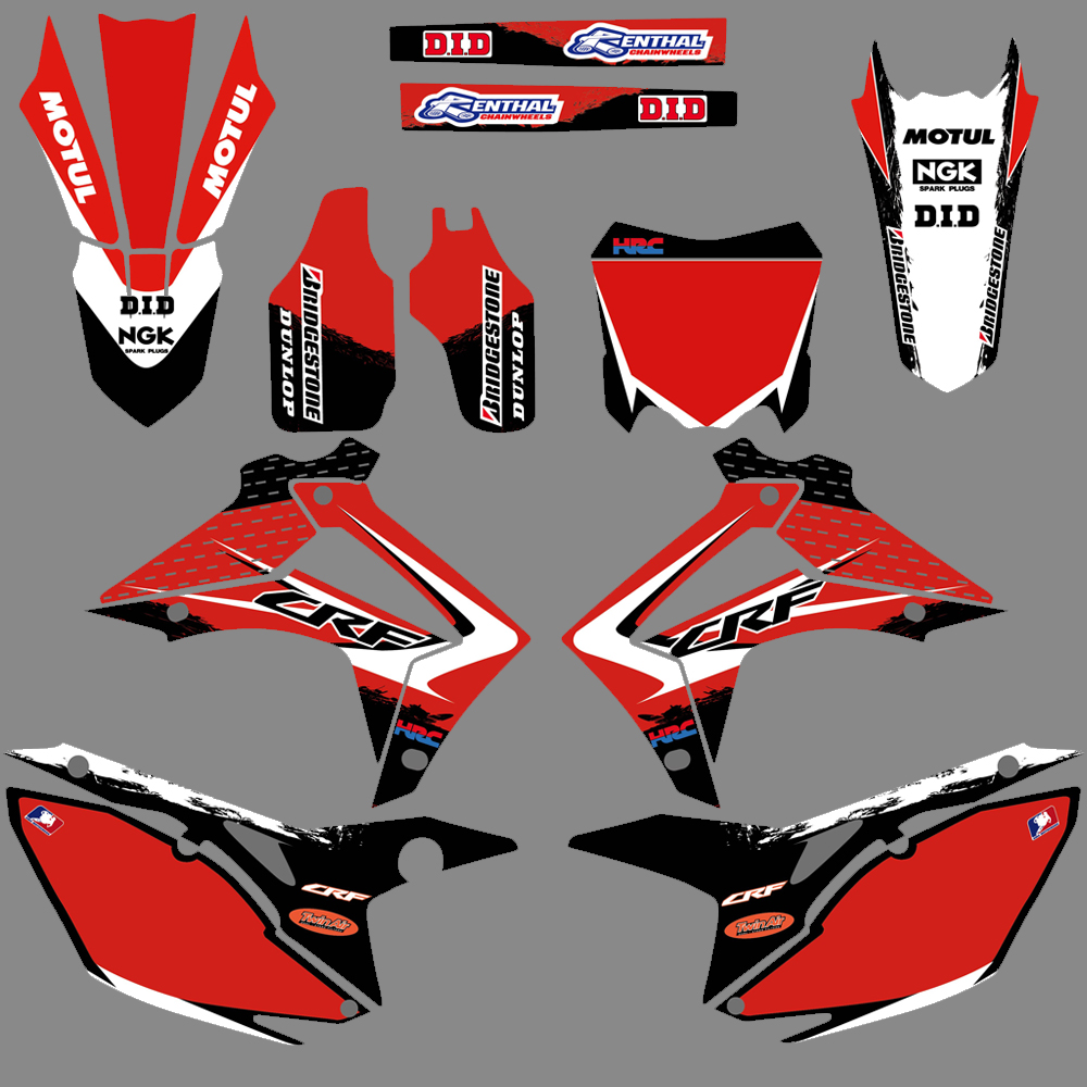 NICECNC Team Graphic Background Decal Stickers For Honda CRF250 CRF450 CRF250R CRF450R CRF 250 250R 450