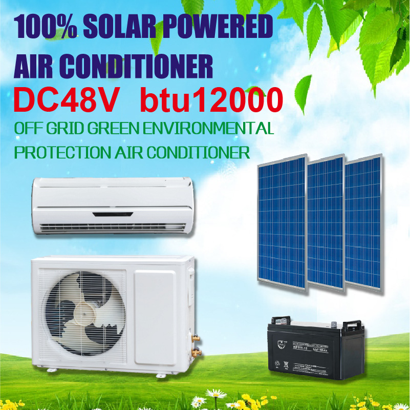 Solar Panels Pv Battery Powered Wall Split Dc Compressor