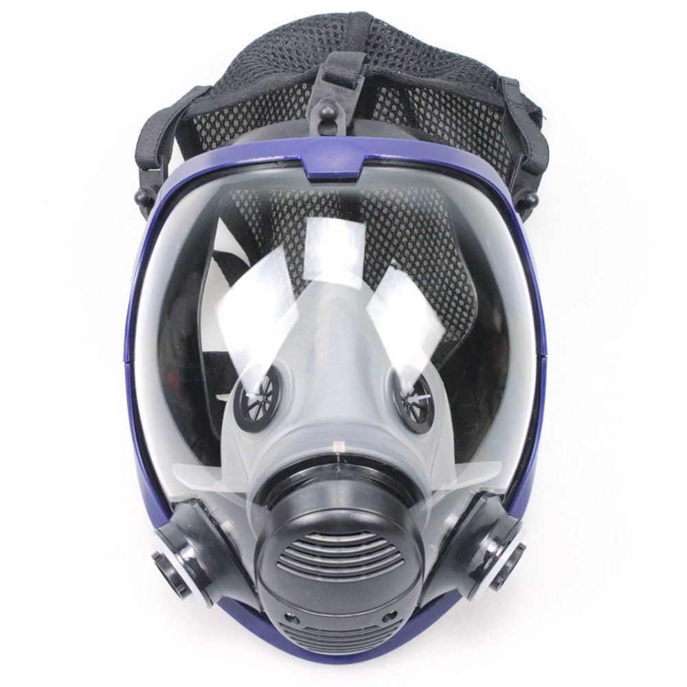 Full Face Outdoor Cycling Mask Respirator Gas Mask Anti-dust Chemical Safety Mask with Cotton Filter for Industry Painting Hot outdoor sports cycling cotton face mask black