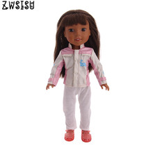 2018 new doll clothes suitable for 14.5 inches American  Wellie wishers doll children's best Christmas gift doll accessories