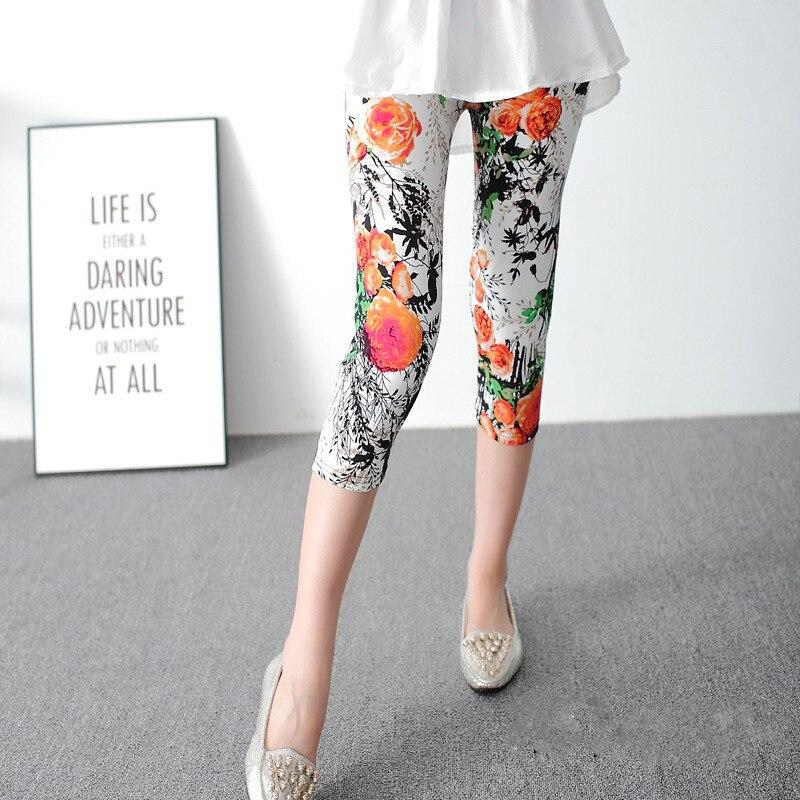 INITIALDREAM Mærke Leggings Sommer Kvinder Høj Talje Elastiske - Dametøj - Foto 4