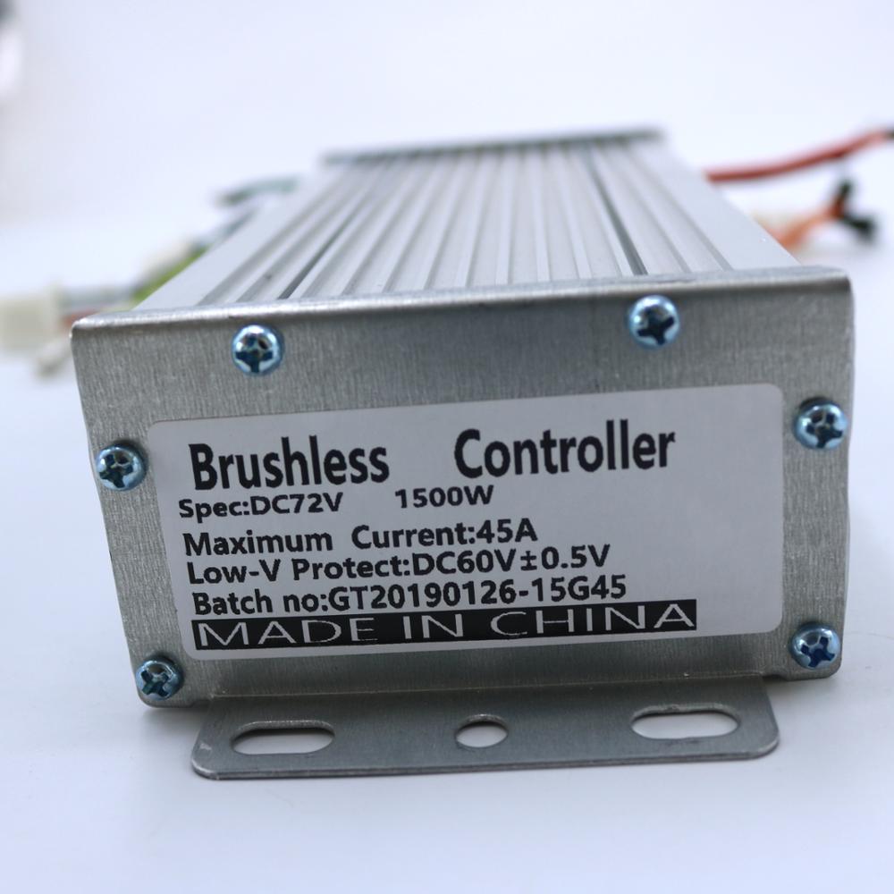 72V 1500W 45Amax BLDC Motor Controller 15FET EV Brushless Speed Controller