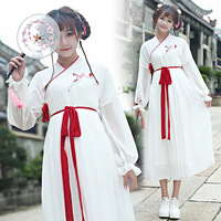 Chinese Dance Costumes Hanfu Dress Ancient Chinese Tang Dynasty Hanfu Women's Hanfu Dresses for Stage Costumes
