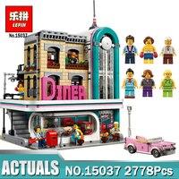 В наличии Лепин 15037 Downtown Diner комплект с Legoionglys 10260 Streetview серии строительные блоки кирпичи Забавные игрушки DIY подарок