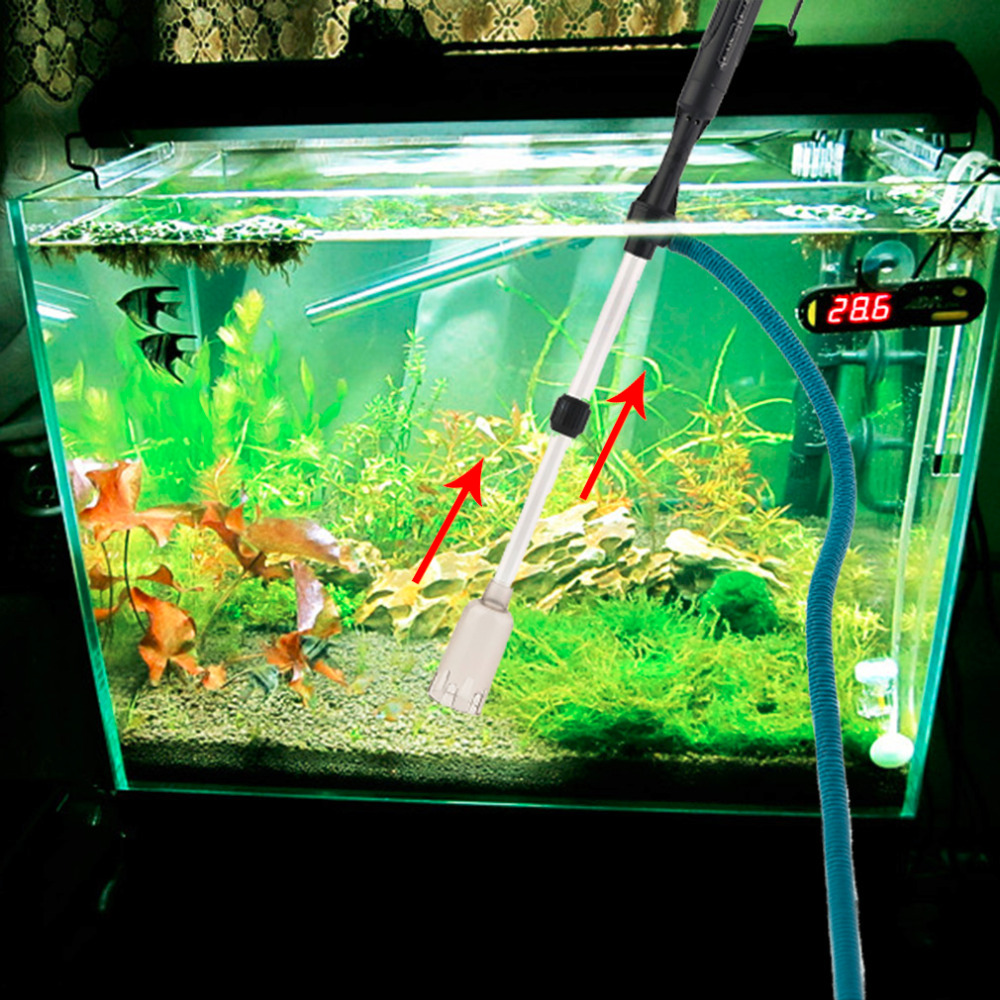 Aquarium fish tank battery vacuum syphon cleaner review - Aquarium Gravel Battery Fish Tank Vacuum Siphon Cleaner Pump Water Filter Popular New Hot Selling