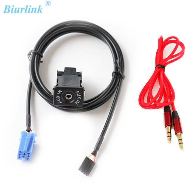Biurlink Aux Cable ISO 8Pin Port AUX IN Switch Adapter For ...