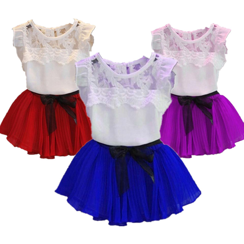 Children Clothes 2018 new Summer Girls Clothes T-shirt+Skirt 2pcs Outfit baby girls clothing sets Casual Toddler kids clothes 2pcs children kids baby girls outfit sets chiffon t shirt tops shorts sleeveless summer outfits suit cute girls clothes sets