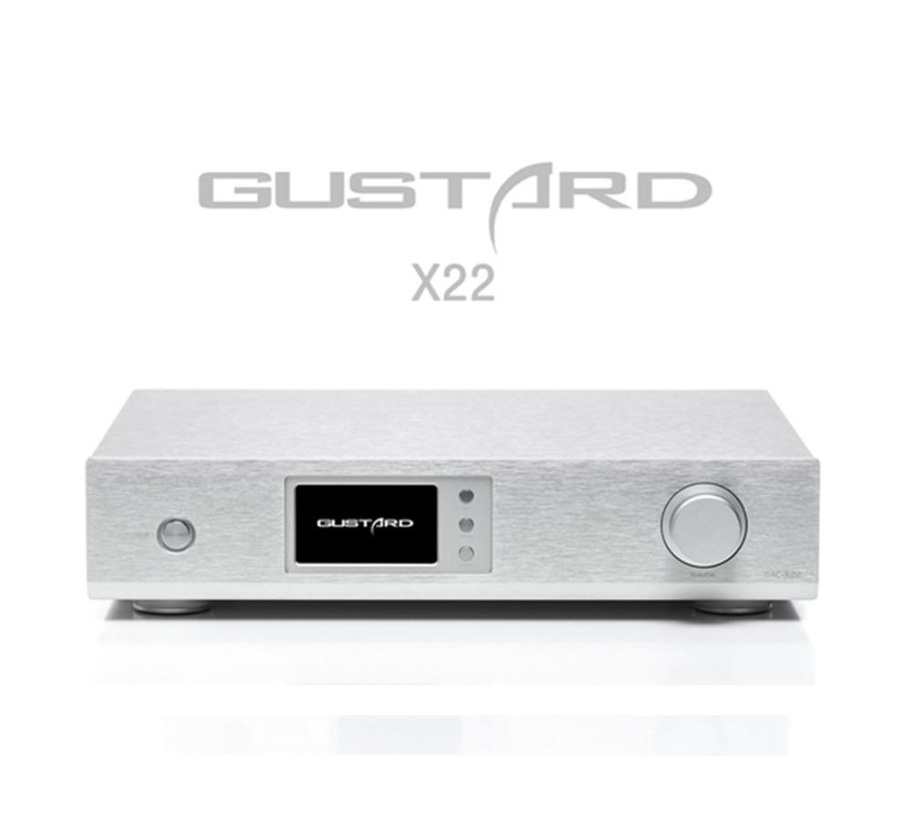 все цены на GUSTARD DAC-X22 ES9038PRO I2S USB XMOS HiFi Music DAC PCM384K DSD512 SPDIF AES DOP DSD Decoder онлайн