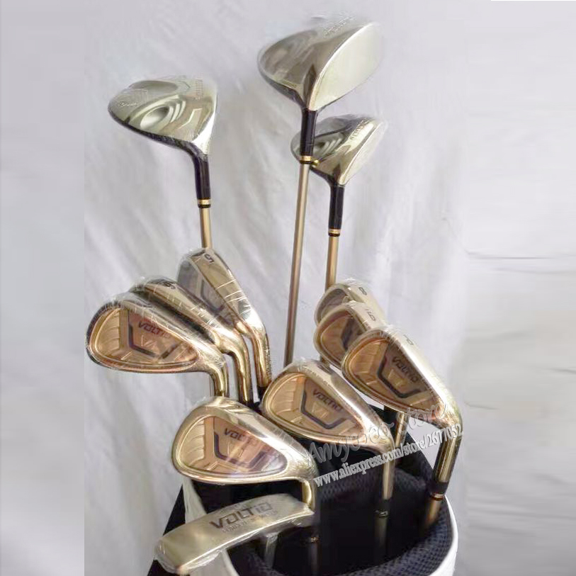 Nieuwe golfclubs KATANA VOLTIO HI IV Complete clubs set Golf Drive + Fairway hout + ijzers + Putter Graphite Golf shaft Freeshipping