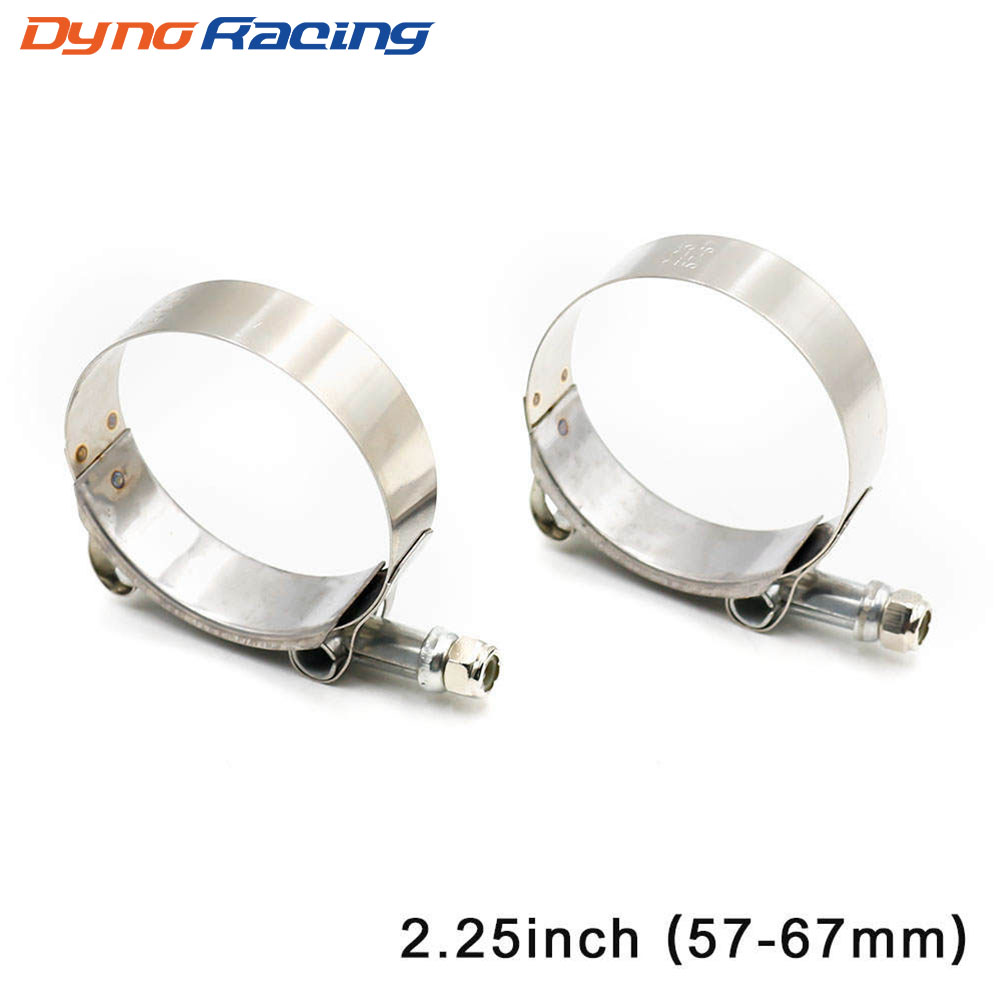 Universal 2.25 Inch (57mm-67mm) Silicone Turbo Hose Coupler T Bolt Super Clamp Kit Exhaust Pipes Turbo Downpipe Clamp