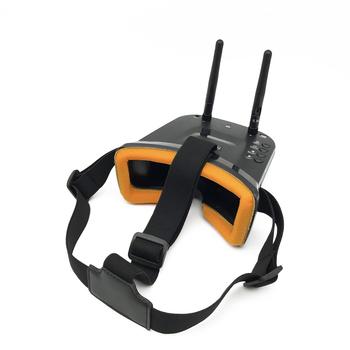 Mini FPV VR okulary 3 cal cal es 480*320 wyświetlacz 5 8G 40CH Auto-wyszukiwania budować- w 3 7 V 1200 mAh bateria do FPV Quadcopter Drone tanie i dobre opinie Mini FPV VR Goggles WALKERA(dianzi) SKYRC