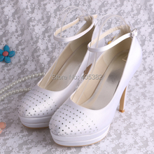 Wedopus MW1605 White Wedding Gowns Pumps Shoes for Women DropShipping