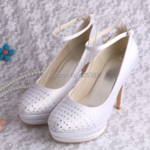 Wedopus MW1605สีขาวชุดแต่งงานปั๊มรองเท้าสำหรับผู้หญิงD Ropshipping