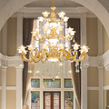 Moderne Treppen Lampe Lange kronleuchter beleuchtung Gebäude Glanz kristall lichter Wohnzimmer led Lampen Club Lobby Luxus licht