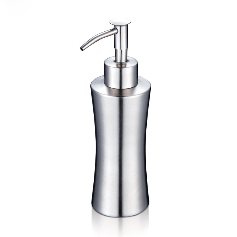 high quality stainless steel soap dispenser kitchen bathroom lotion pump silver luxury liquid soap dispenser - Soap Dispenser Pumps