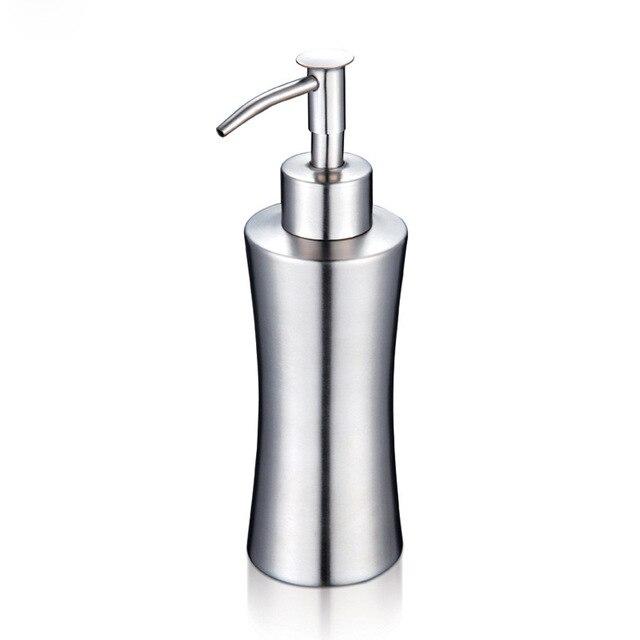 Hohe Qualität Edelstahl Seifenspender Küche Bad Lotion Pumpe Silber ...
