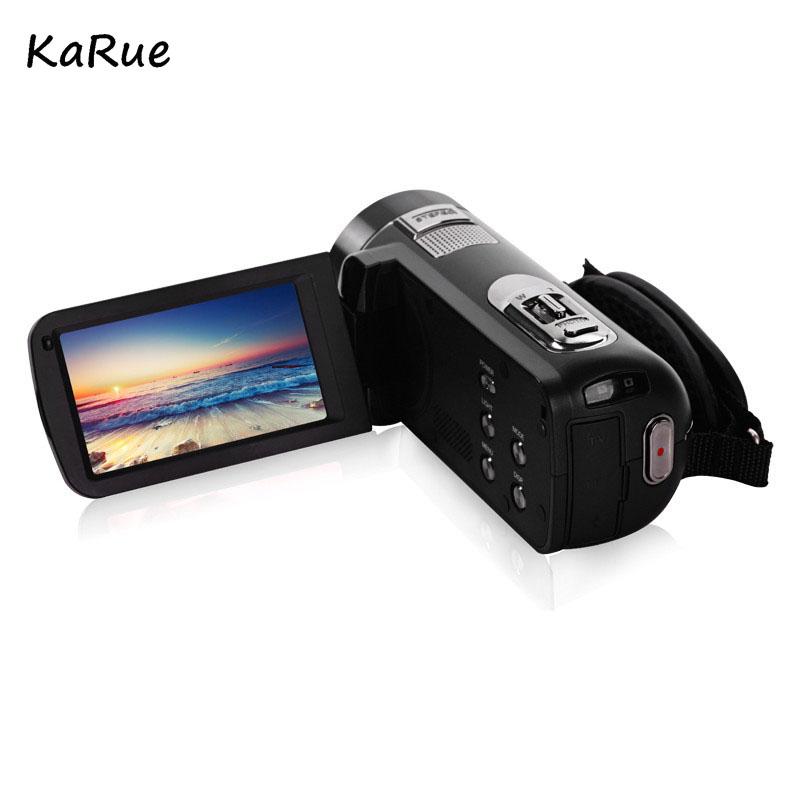 Karue HDV-Z816x Digital Zoom Max. 24MP 1080P Full HD Digital Video Camera Camcorder with Digital Rotation LCD Touch Screen 7