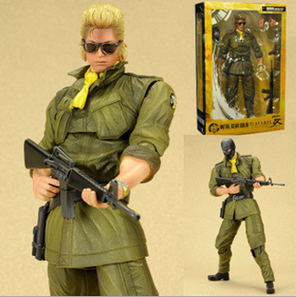 NEW hot 28cm Metal Gear miller collectors action figure toys Christmas gift doll with box new hot 15cm a nightmare on elm street freddy krueger collectors action figure toys christmas gift doll with box