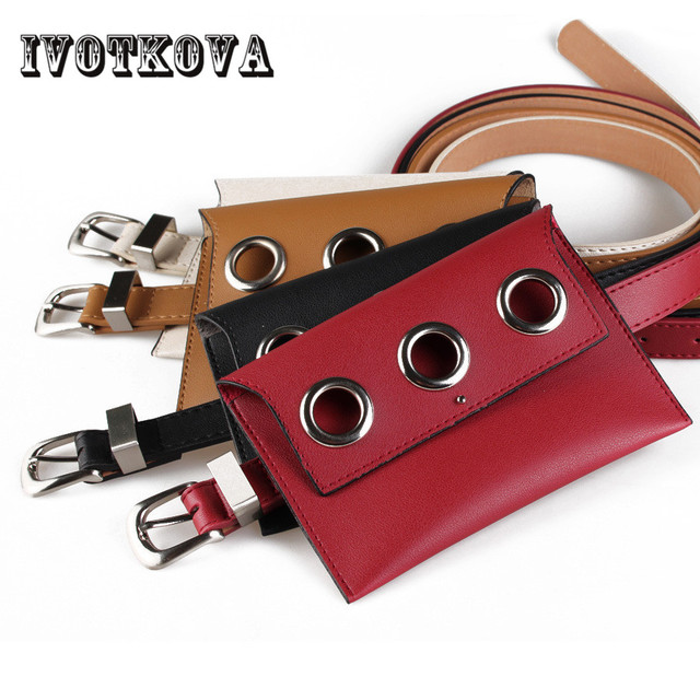 IVOTKOVA Young Lady Belt Bag Fashion Pu Leather Women Waist Packs New Designer Female Funny Phone Bags Girl Gift Drop Shipping